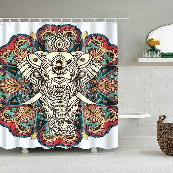Shop Bathroom Shower Curtains Elephant Bohemia Style