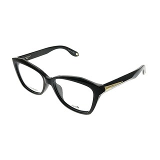 Givenchy Rectangle GV 0021/F QOL Unisex Black on Crystal Frame Eyeglasses