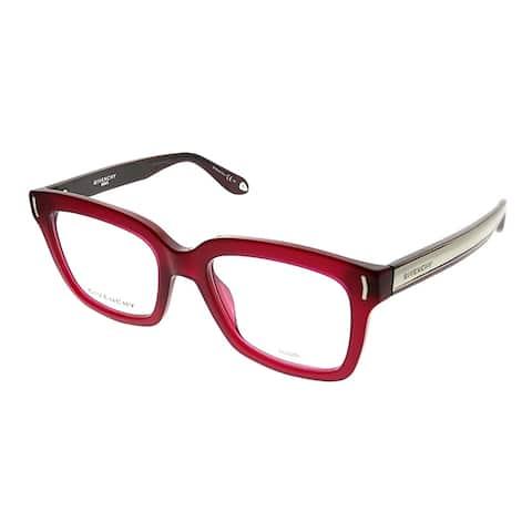Givenchy Square GV 0014 VRD Unisex Burgundy Frame Eyeglasses