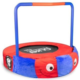 Pure Fun 36-inch Race Car Plush Jumper Kids Trampoline, Foldable