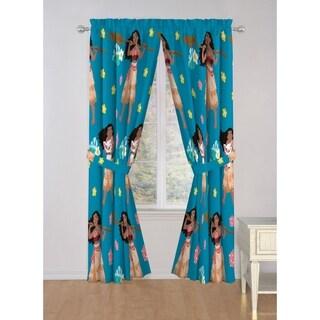 "Disney Moana Flower Power 63"" Decorative Curtain Set"