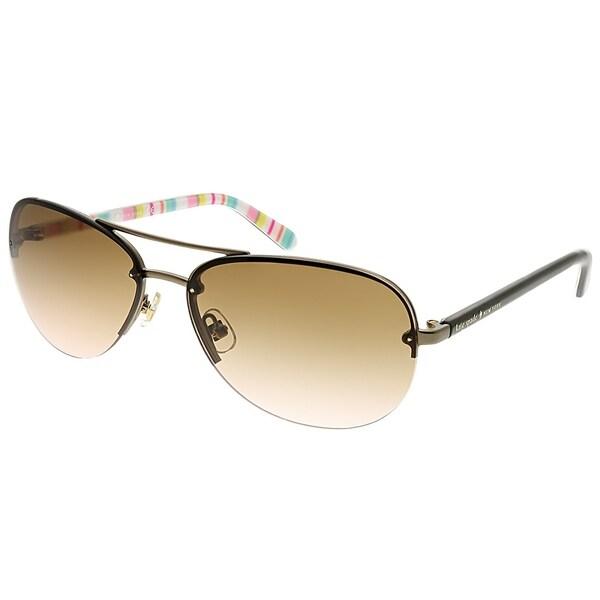 a17928191a6ee Kate Spade Aviator Beryl RUG Women Bronze Frame Brown Gradient Lens  Sunglasses