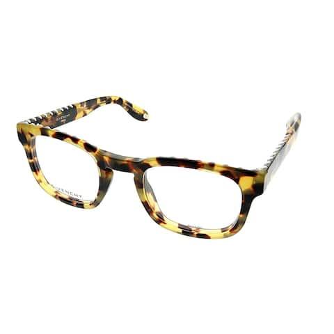 Givenchy Square GV 0006 00F Unisex Tokyo Tortoise Frame Eyeglasses