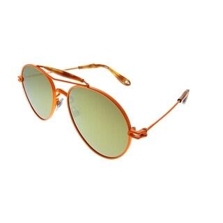 Givenchy Aviator GV 7012 TI1 K1 Unisex Orange Frame Orange Mirror Lens Sunglasses
