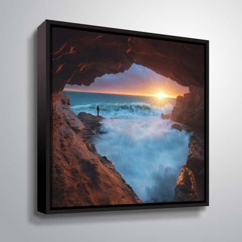 """ArtWall """"What Else"""" Gallery Wrapped Floater-framed Canvas"""