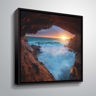 "ArtWall ""What Else"" Gallery Wrapped Floater-framed Canvas"