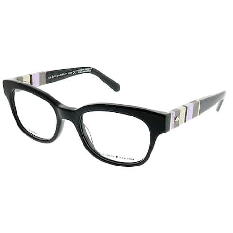 261a9679448e7 Kate Spade Rectangle Andra W91 Women Black Frame Eyeglasses