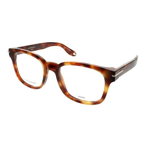 Givenchy Square GV 0001 VMB Unisex Light Tortoise Frame Eyeglasses