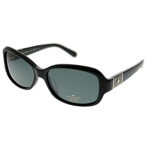 0ecb41231ae53 Kate Spade Oval Cheyenne P FWF Y2 Women Black Frame Grey Polarized Lens  Sunglasses