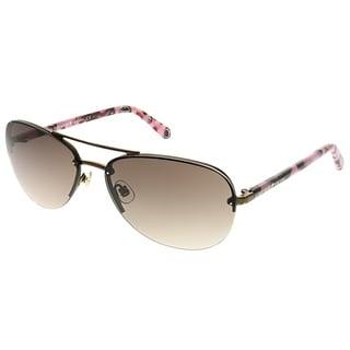 Kate Spade Aviator Beryl PSE Women Brown Frame Brown Gradient Lens Sunglasses