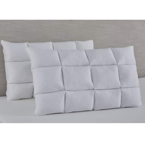 Slumber Solutions Reversible Puff with NRGel Memory Foam Pillow
