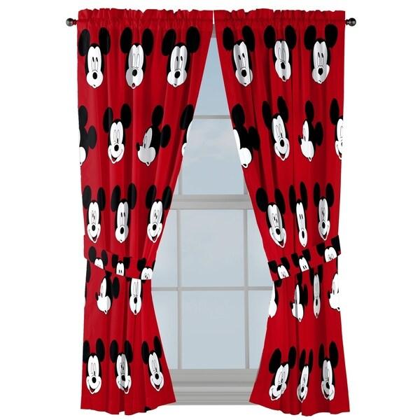 "Disney Mickey Mouse Cute Faces 63"" Decorative Drapes Set"