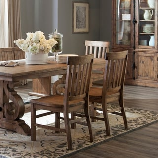 The Gray Barn Combe Magna Dining Side Chair with Wood Seat and Back (Set of 2)