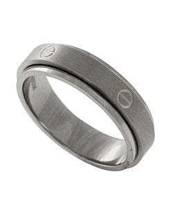 Men's Titanium Screwtop Spinner Ring - Thumbnail 1