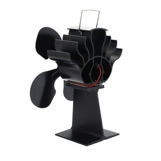 4-Blade Heat Powered Stove Fan for Wood / Log Burner/Fireplace - Eco