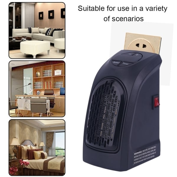 Handy 350 Watts Wall Outlet Space Heater For Bathroom Garages Bedroom Home. Opens flyout.