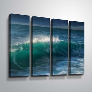 ArtWall 'Wave' 4-piece Gallery Wrapped Canvas Set