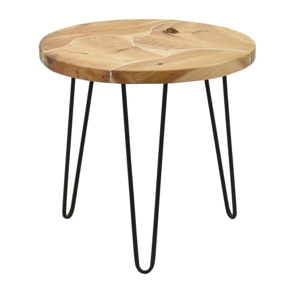 Three Hands Metal Frame 22.75-inch Table