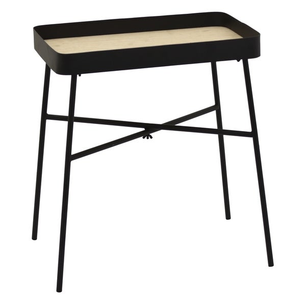 """20"""" Metal Tray Table - Black By Three Hands"""