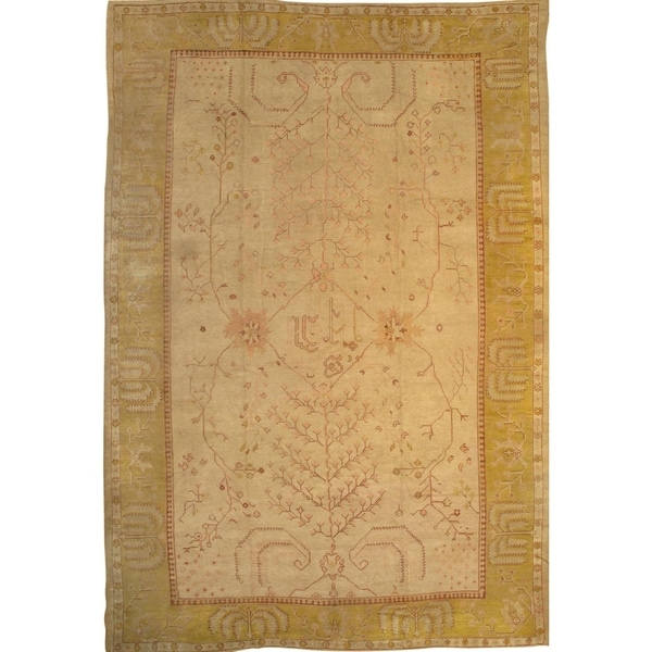 """Pasargad DC Antique Turkish Oushak Hand-Knotted Rug - 11'2"""" x 16'10"""" - 11.2x 16.10"""