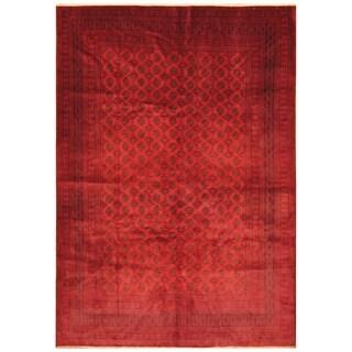 Handmade Herat Oriental Afghan Hand-knotted Tribal Balouchi Wool Rug (7'3 x 10')