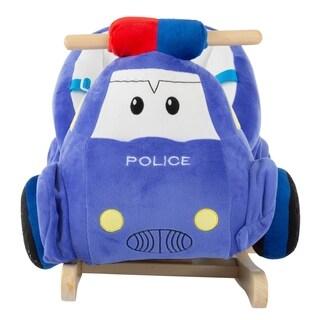 Rocking Police Car Toy Kids Plush Stuffed Ride on by Happy Trails