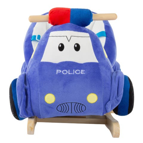 Rocking Police Car Toy Kids Plush Stuffed Ride on by Happy Trails