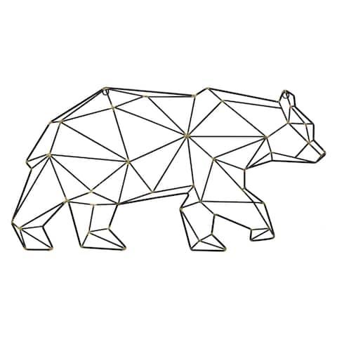 "16"" Metal Wall - Bear By Three Hands - 28 x 1.5 x 16"