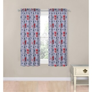 "Mavel Spiderman Spidey Crawl 63"" Decorative Drapes Set"