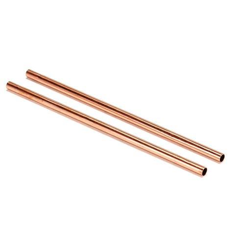 Modern Home Authentic Solid Copper Moscow Mule Straws - Handmade