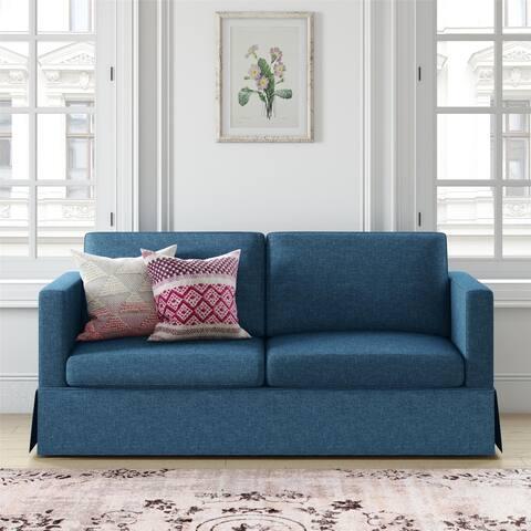Copper Grove Tielt Skirted Slipcover Sofa