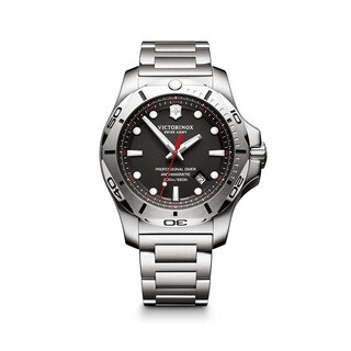 Victorinox I.N.O.X. Black Dial Stainless Steel Bracelet Men's Watch 241781