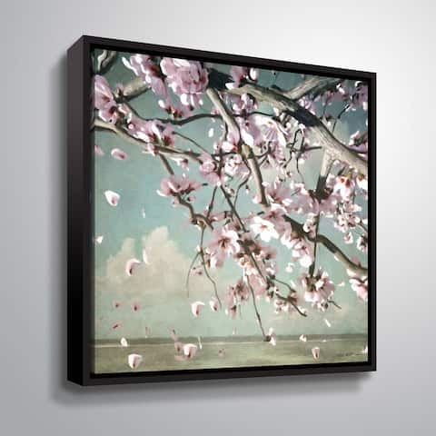 "ArtWall ""Cherry Blossom"" Gallery Wrapped Floater-framed Canvas"