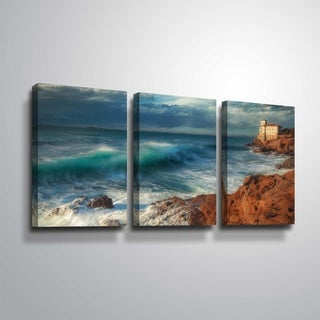 "ArtWall ""On the Edge"" 3 Piece Gallery Wrapped Canvas Set"