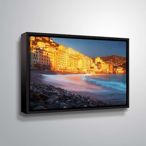 """ArtWall """"Light up the Shore"""" Gallery Wrapped Floater-framed Canvas"""