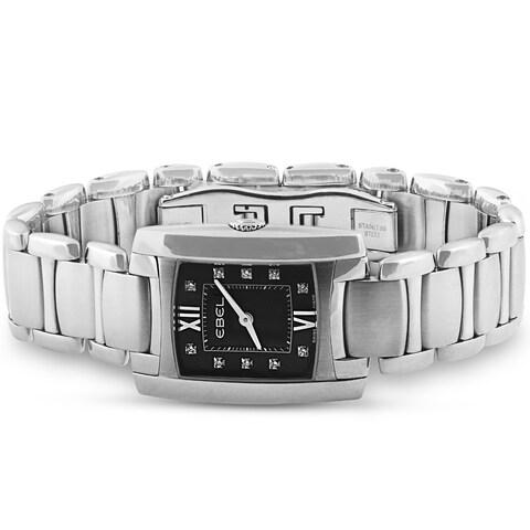 Ebel Brasilia Ladies Swiss Diamond Watch Womens Ebony