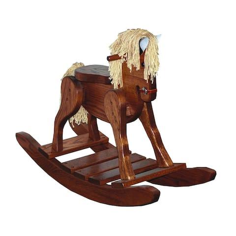 Heirloom Oak Child's Deluxe Rocking Horse