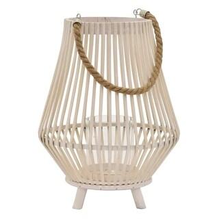 "15"" Decorative Bamboo Lantern By Three Hands"