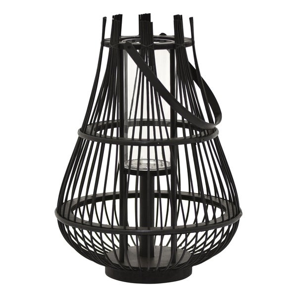 """16.5"""" Decorative Wicker Lantern By Three Hands"""