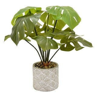 """18"""" Faux Greenery In Flower Pot By Three Hands"""