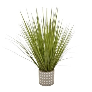 """28"""" Faux Grass In Flower Pot By Three Hands"""