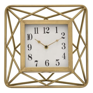 Three Hands Metal 11.5-inch Table Clock