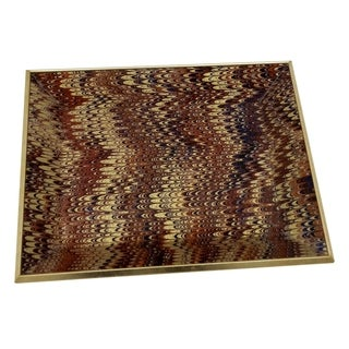 Three Hands Brown and Gold Glass 2-inch Decorative Tray