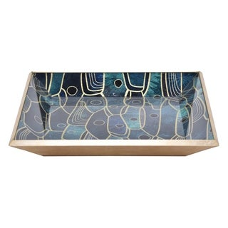 Three Hands Green Glass 2-inch Square Tray