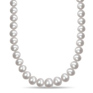 Miadora South Sea Cultured Pearl Necklace with 14k Yellow Gold Ball Clasp (10-15.5 mm)