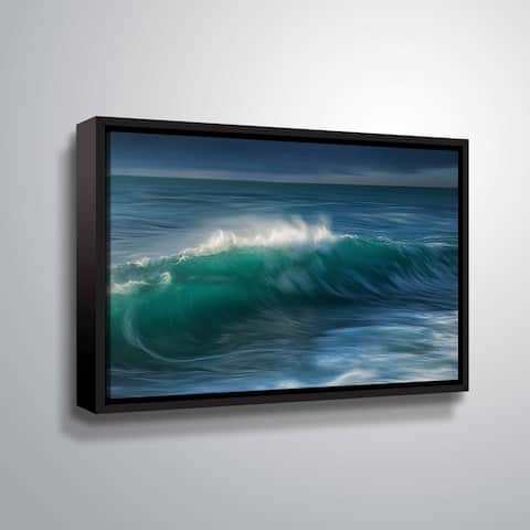 """ArtWall """"Wave"""" Gallery Wrapped Floater-framed Canvas"""