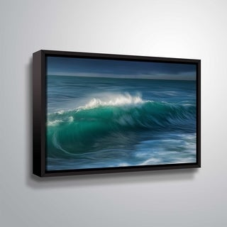 "ArtWall ""Wave"" Gallery Wrapped Floater-framed Canvas"