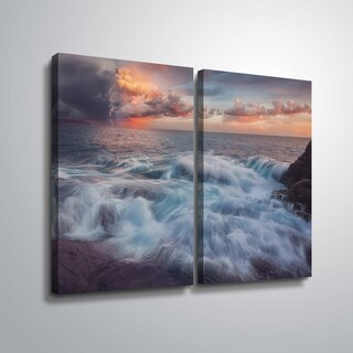 "ArtWall ""Delirium with Colors 2"" 2 Piece Gallery Wrapped Canvas Set"