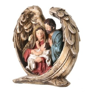 8 Inch Resin nativity on wings
