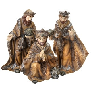 """15-20"""" mgo frosted three kings set/3"""